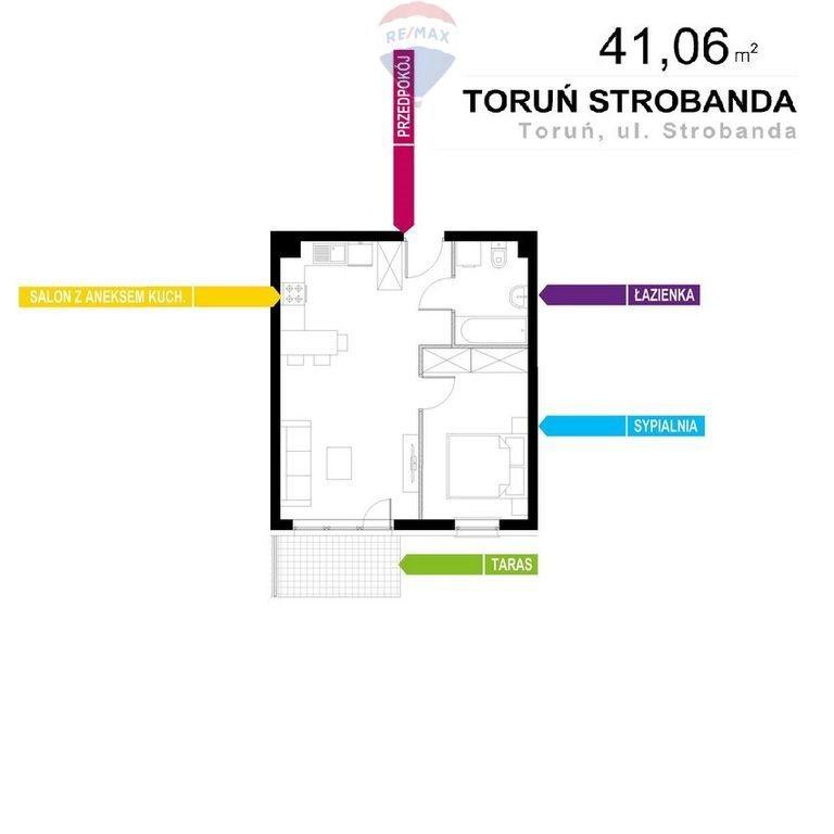 Mieszkanie dwupokojowe na sprzedaż Toruń, Henryka Strobanda  41m2 Foto 2