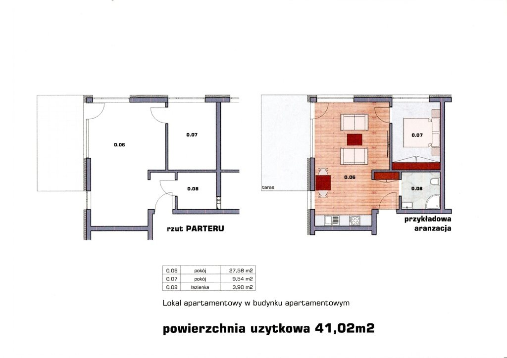 Mieszkanie dwupokojowe na sprzedaż Dziwnówek  41m2 Foto 2