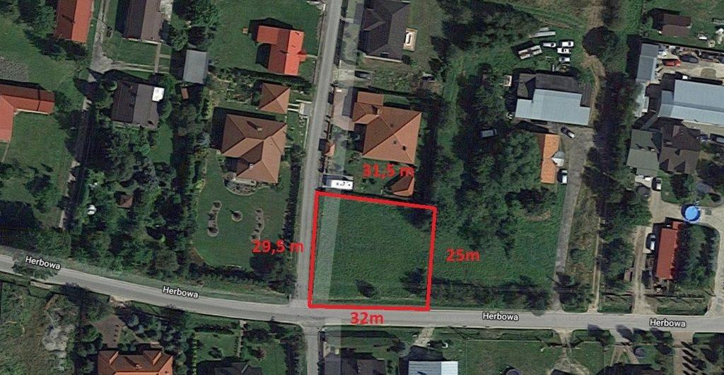 Działka budowlana na sprzedaż Rzeszów, Budziwój, Herbowa  840m2 Foto 1