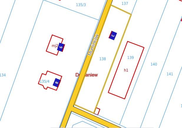 Działka budowlana na sprzedaż Domaniew, Muminków  1050m2 Foto 1