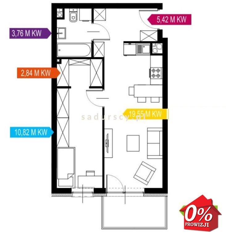 Mieszkanie dwupokojowe na sprzedaż Kraków, Prądnik Biały, Prądnik Biały, Kazimierza Wyki - okolice  42m2 Foto 3
