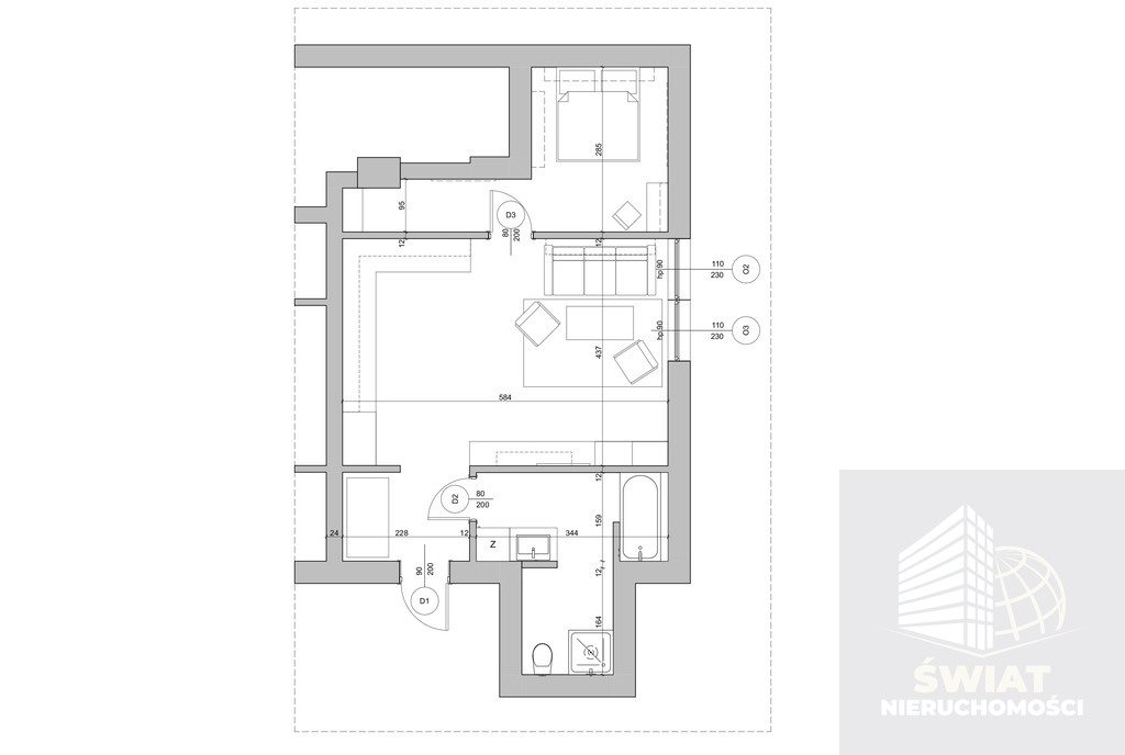 Mieszkanie dwupokojowe na sprzedaż Gryfino  48m2 Foto 5