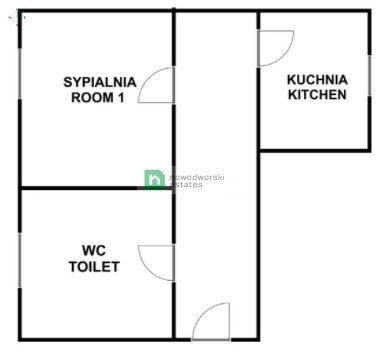 Mieszkanie dwupokojowe na sprzedaż Poznań, Wilda, Robocza  47m2 Foto 12
