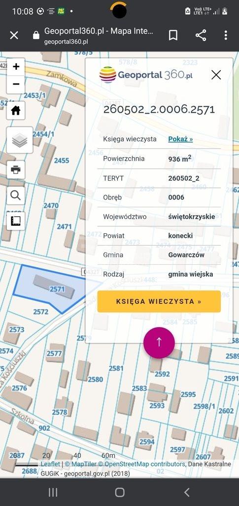 Działka budowlana na sprzedaż Gowarczów, Tadeusza Kościuszki  936m2 Foto 3