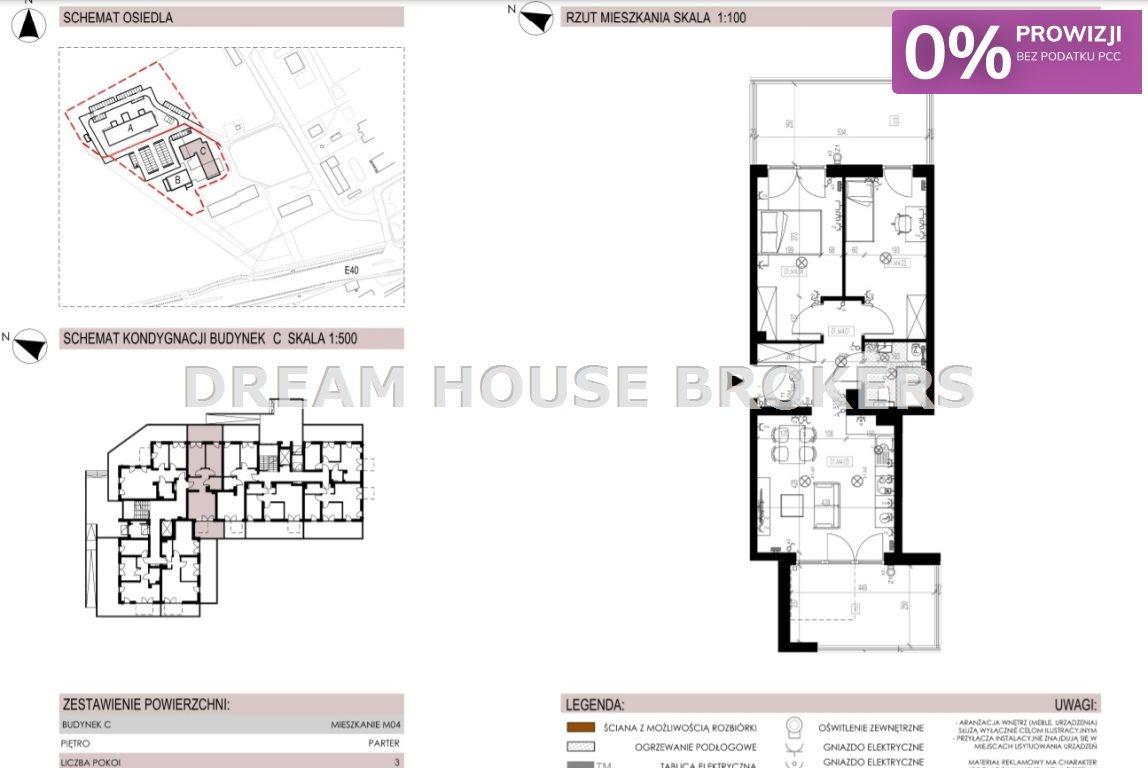Mieszkanie trzypokojowe na sprzedaż Krasne  55m2 Foto 7