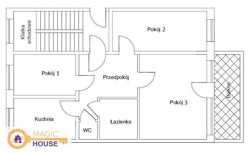 Mieszkanie trzypokojowe na sprzedaż Gdańsk, Morena, Franciszka Zabłockiego  53m2 Foto 5