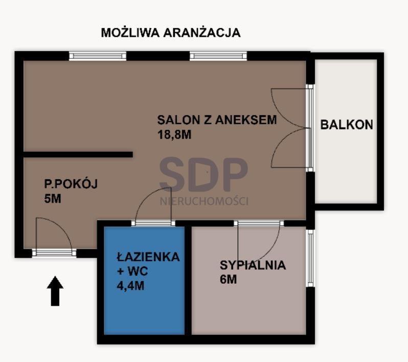 Mieszkanie dwupokojowe na sprzedaż Wrocław, Psie Pole, Swojczyce, Bacciarellego  34m2 Foto 8
