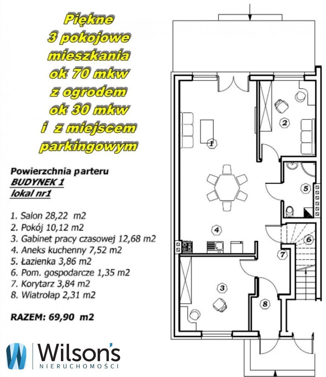 Mieszkanie trzypokojowe na sprzedaż Marki, Dzika  70m2 Foto 2