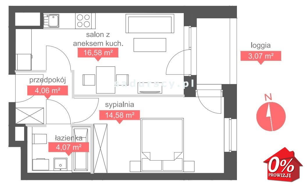Mieszkanie dwupokojowe na sprzedaż Kraków, Bronowice, Bronowice Małe, Bronowicka  39m2 Foto 3