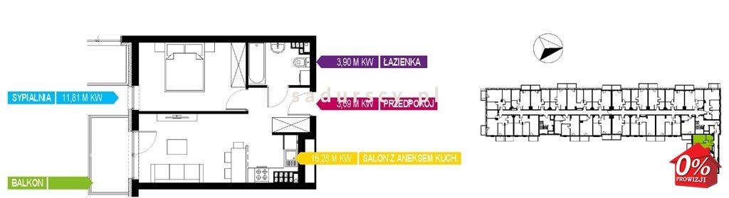 Mieszkanie dwupokojowe na sprzedaż Kraków, Bieżanów-Prokocim, Osiedle Złocień, Osiedle Złocień  36m2 Foto 6