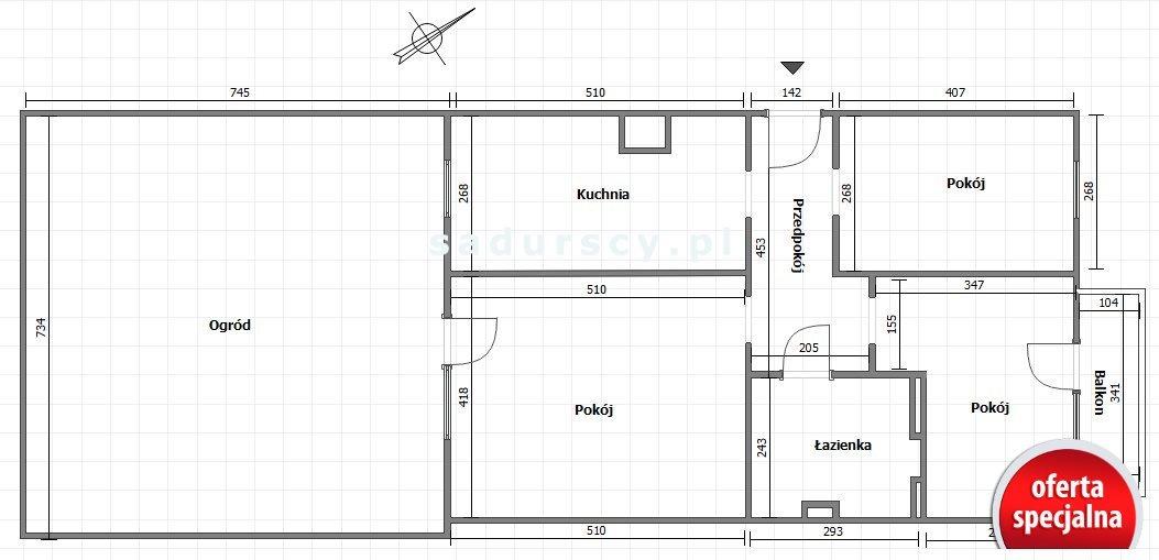 Mieszkanie trzypokojowe na sprzedaż Kraków, Dębniki, Kliny, Korpala  73m2 Foto 3