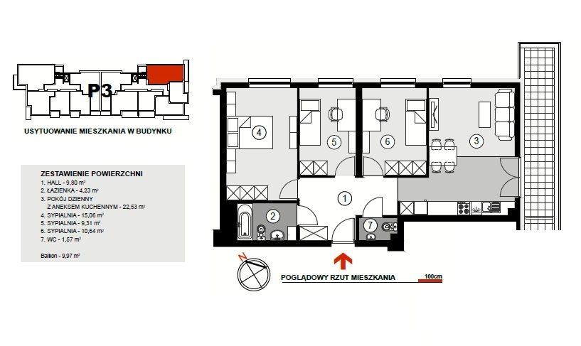 Mieszkanie czteropokojowe  na sprzedaż Rzeszów, Lubelska  73m2 Foto 4