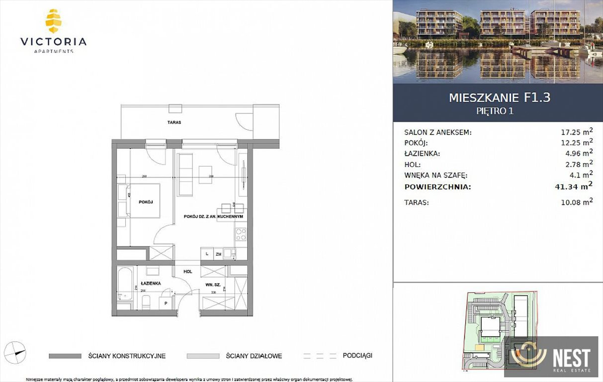 Mieszkanie dwupokojowe na sprzedaż Szczecin, Prawobrzeże, Przestrzenna  41m2 Foto 5