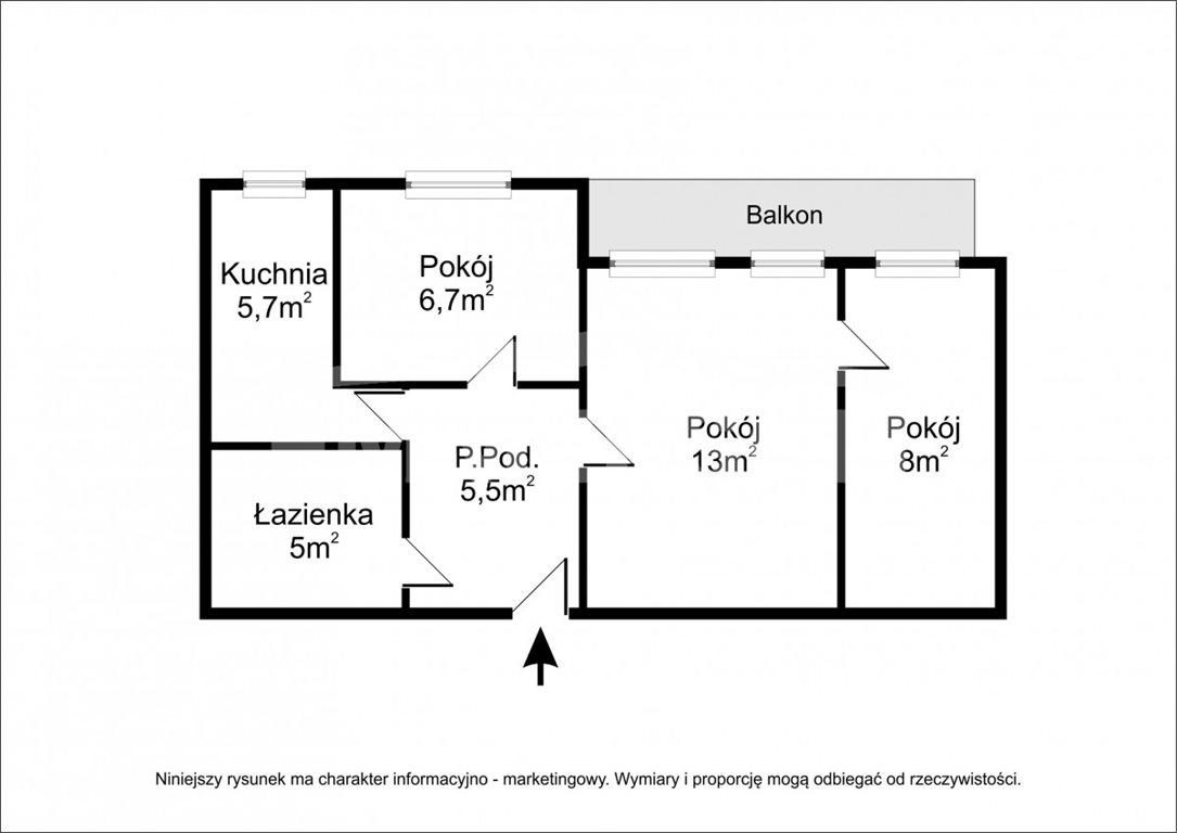 Mieszkanie trzypokojowe na sprzedaż Wrocław, Grabiszyn, Grabiszyńska  48m2 Foto 3