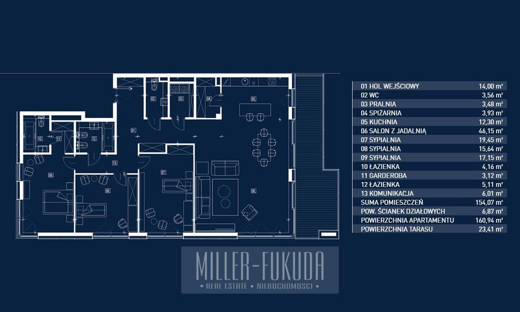 Mieszkanie czteropokojowe  na sprzedaż Warszawa, Mokotów, Białej Koniczyny  160m2 Foto 4
