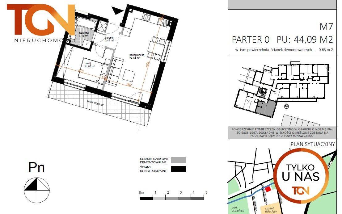 Mieszkanie dwupokojowe na sprzedaż Łódź, Doły, Czeremoska  45m2 Foto 5