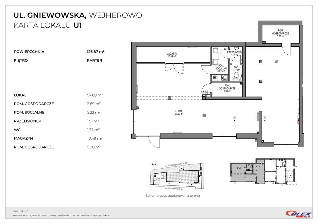 Lokal użytkowy na sprzedaż Wejherowo, Gniewowska 30  127m2 Foto 3