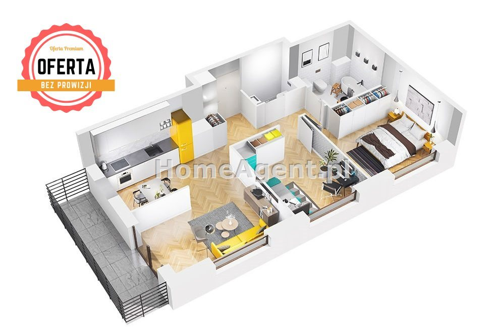 Mieszkanie trzypokojowe na sprzedaż Sosnowiec, Klimontów, Klimontowska  48m2 Foto 4