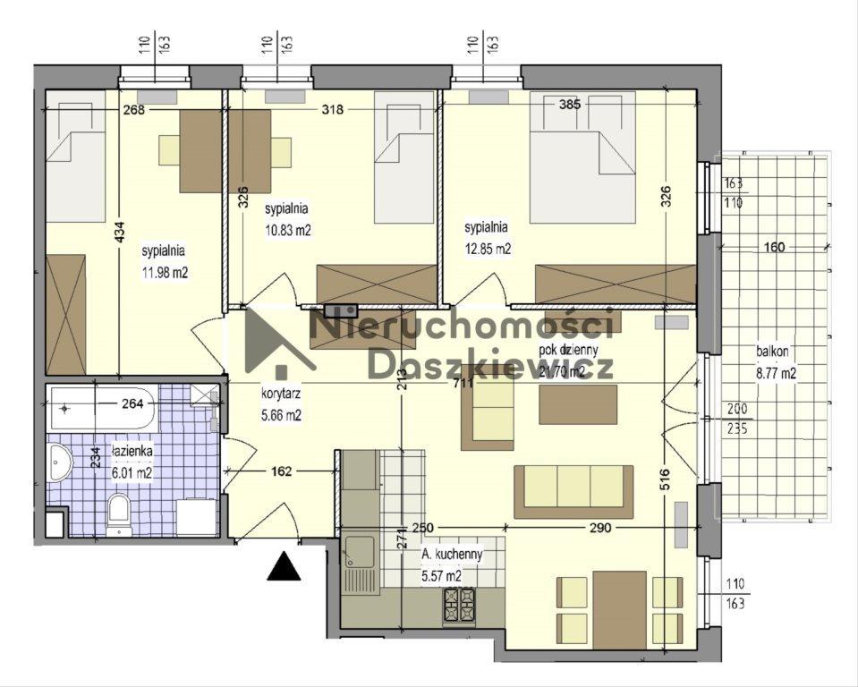 Mieszkanie czteropokojowe  na sprzedaż Warszawa, Mokotów, Sadyba, Santocka  75m2 Foto 2