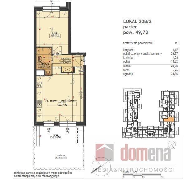 Mieszkanie dwupokojowe na sprzedaż Poznań, Stare Miasto, Winogrady, Wilczak  50m2 Foto 12