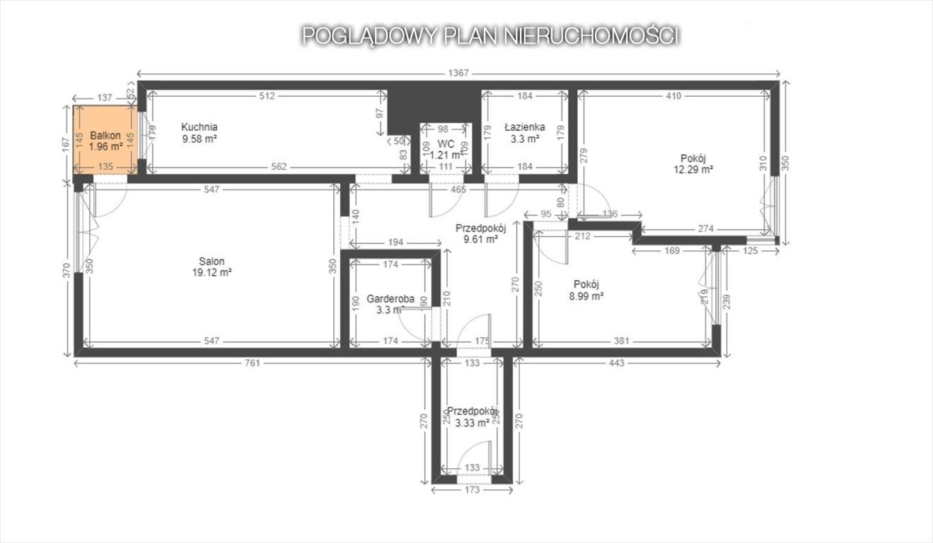 Mieszkanie trzypokojowe na sprzedaż Sosnowiec, Zagórze  66m2 Foto 8