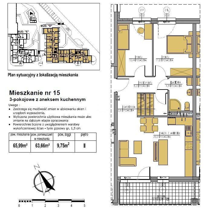 Mieszkanie trzypokojowe na sprzedaż Bydgoszcz, Bielawy, Jana Karola Chodkiewicza  66m2 Foto 5