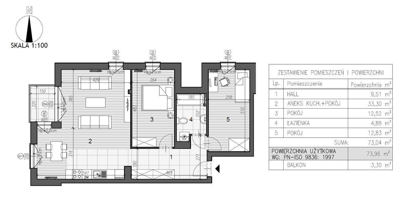 Mieszkanie trzypokojowe na sprzedaż Kielce, Szydłówek  74m2 Foto 7
