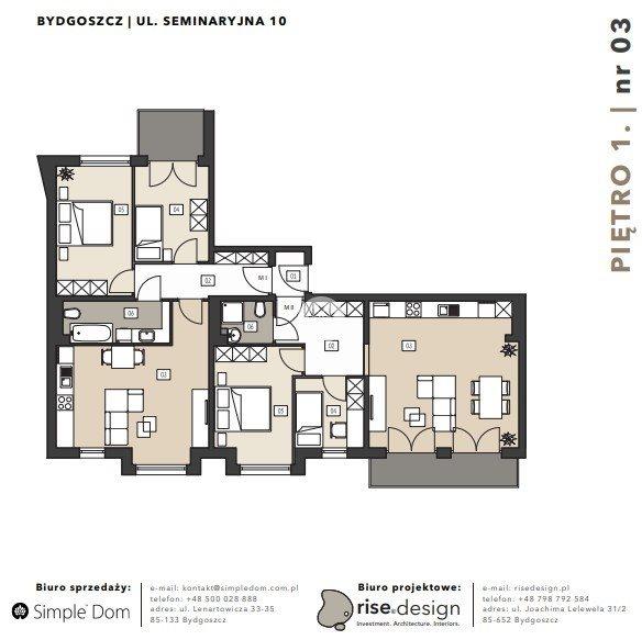 Mieszkanie na sprzedaż Bydgoszcz, Błonie, Seminaryjna  113m2 Foto 6