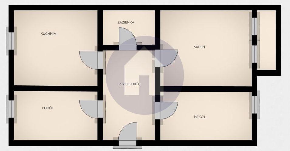 Mieszkanie trzypokojowe na sprzedaż Świdnica  54m2 Foto 8