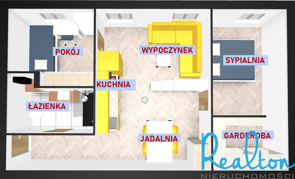 Mieszkanie dwupokojowe na sprzedaż Gliwice, Zatorze, Chorzowska  51m2 Foto 10