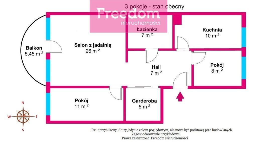 Mieszkanie trzypokojowe na sprzedaż Toruń, Koniuchy, Janiny Bartkiewiczówny  75m2 Foto 8