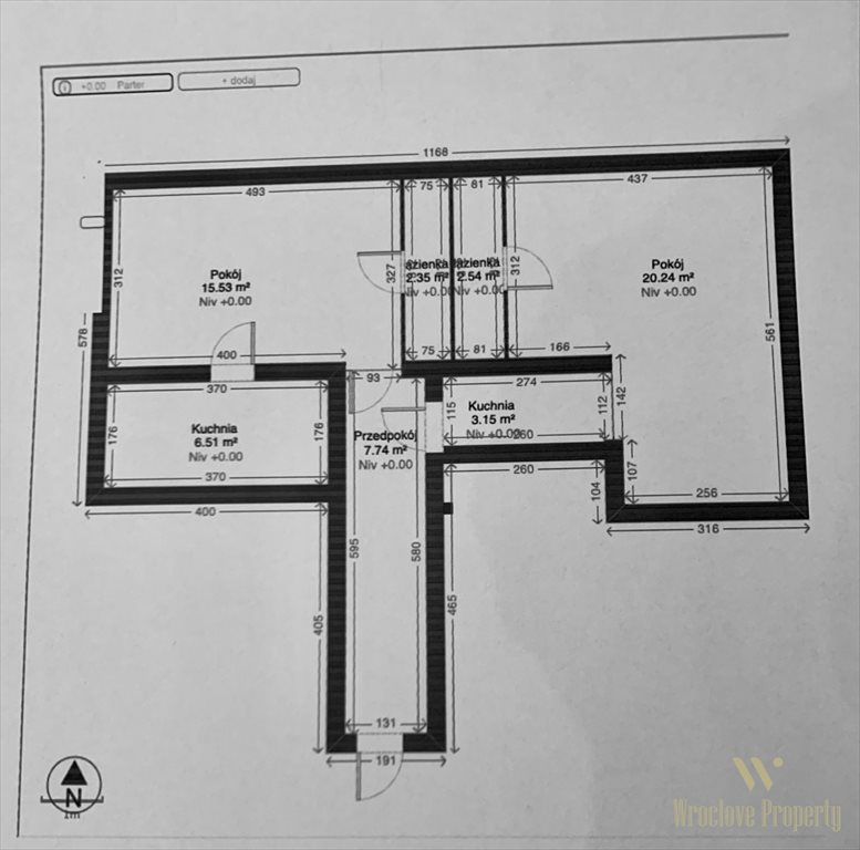 Mieszkanie dwupokojowe na sprzedaż Wrocław, Śródmieście, Powstańców Wielkopolskich  58m2 Foto 6