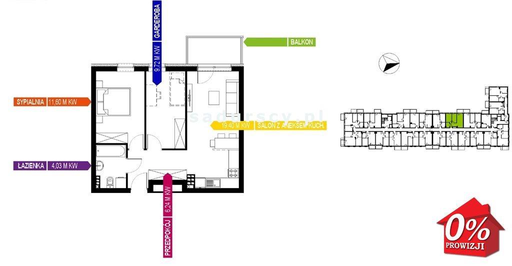 Mieszkanie trzypokojowe na sprzedaż Kraków, Bieżanów-Prokocim, Osiedle Złocień, Osiedle Złocień  51m2 Foto 6