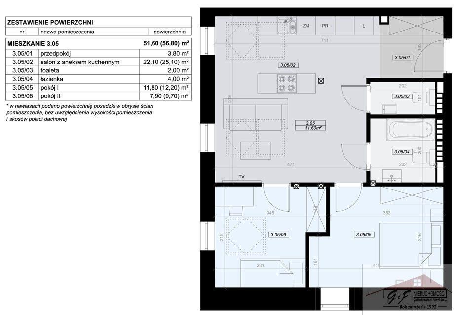 Mieszkanie trzypokojowe na sprzedaż Przemyśl, Tatarska  52m2 Foto 5
