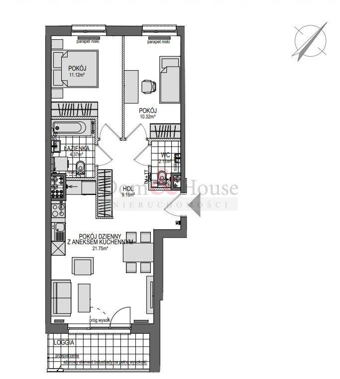Mieszkanie trzypokojowe na sprzedaż Gdańsk, Śródmieście, Powstańców Warszawskich  62m2 Foto 3