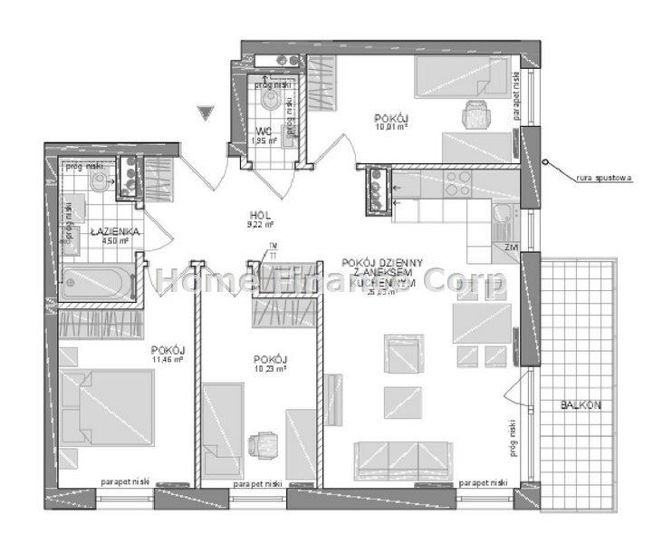 Mieszkanie czteropokojowe  na sprzedaż Gdynia, Pogórze  76m2 Foto 2