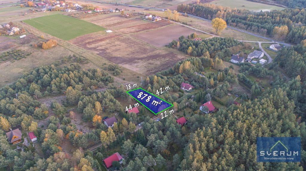 Działka rekreacyjna na sprzedaż Skowronów  854m2 Foto 1