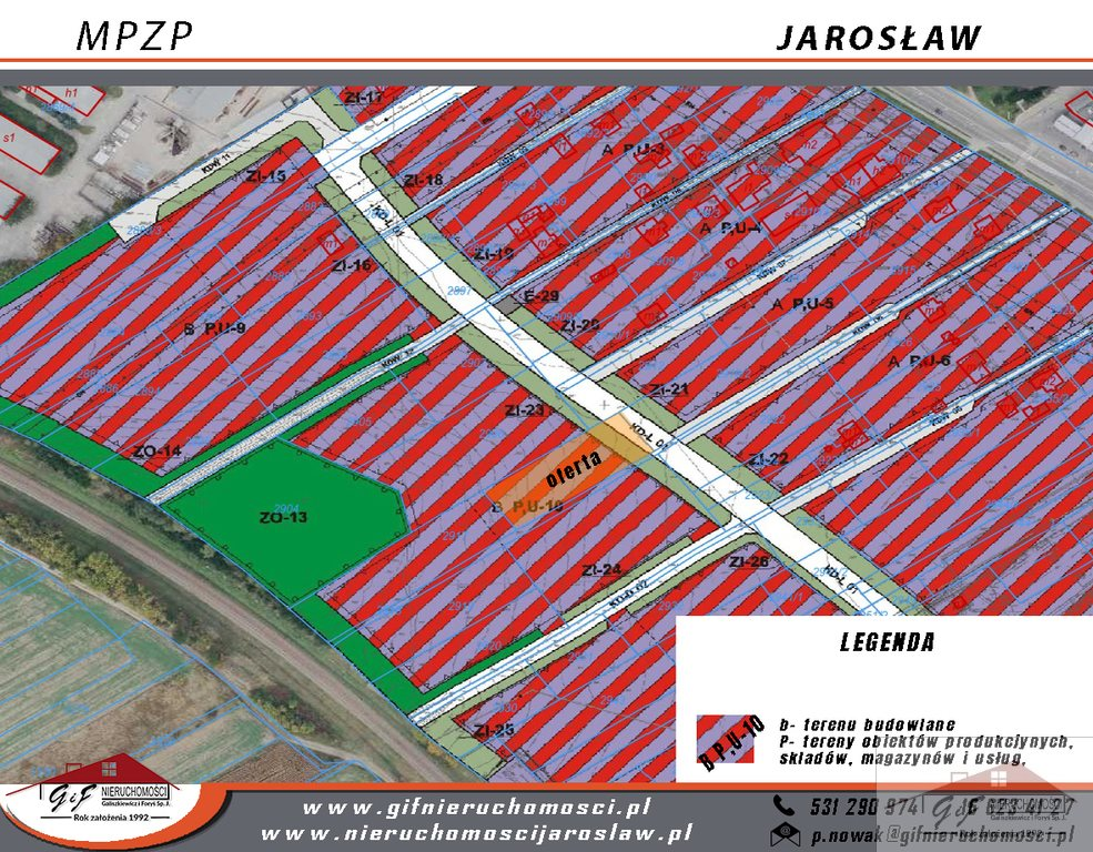 Działka komercyjna na sprzedaż Jarosław, 3 Maja  2320m2 Foto 2