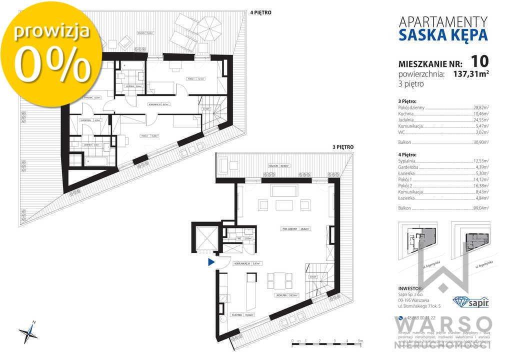 Mieszkanie czteropokojowe  na sprzedaż Warszawa, Praga-Południe, Saska Kępa, Argentyńska  137m2 Foto 4