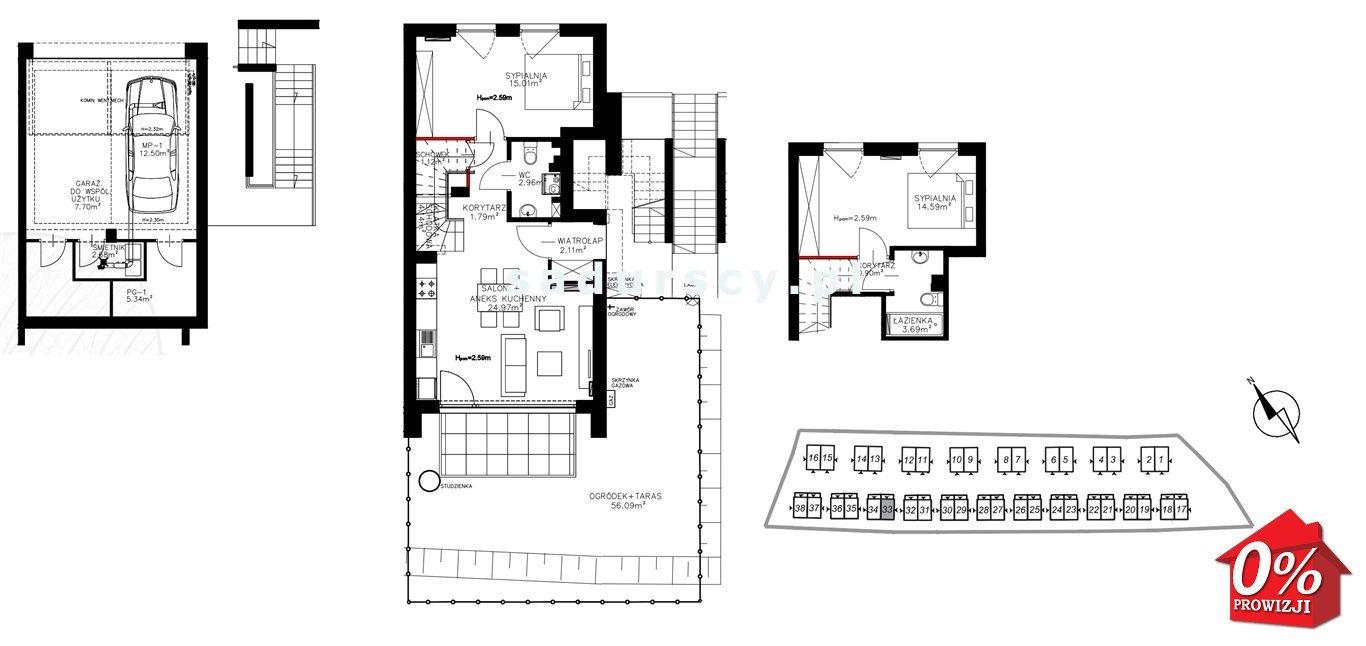 Mieszkanie trzypokojowe na sprzedaż Kraków, Bronowice, Bronowice Wielkie, Pasternik - okolice  72m2 Foto 3