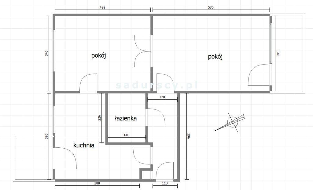 Mieszkanie dwupokojowe na wynajem Kraków, Prądnik Czerwony, Olsza, Młyńska  55m2 Foto 3