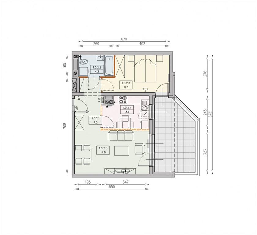Mieszkanie dwupokojowe na sprzedaż Wrocław, Swojczyce  49m2 Foto 2