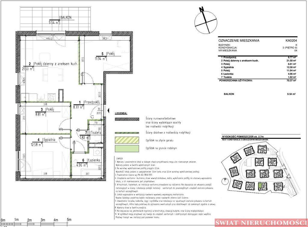 Mieszkanie czteropokojowe  na sprzedaż Wrocław, Kowale, Kowale  70m2 Foto 4