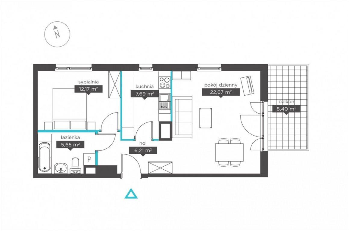 Mieszkanie dwupokojowe na sprzedaż Poznań, Jeżyce, Stanisława Szczepanowskiego  54m2 Foto 5