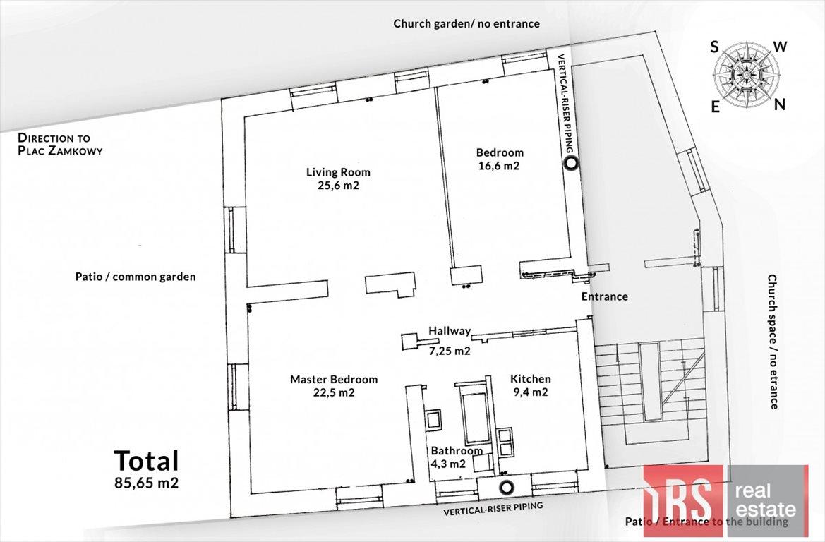 Mieszkanie trzypokojowe na sprzedaż Warszawa, Śródmieście, Piwna  85m2 Foto 1