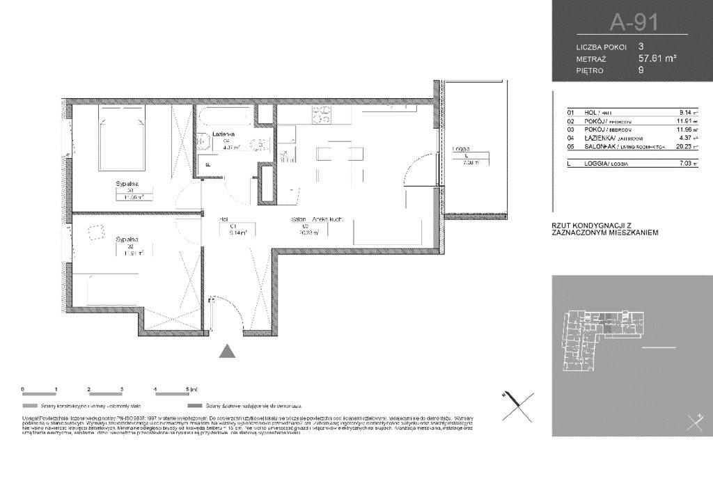 Mieszkanie trzypokojowe na sprzedaż Warszawa, Białołęka, Tarchomin, Józefa Mehoffera  58m2 Foto 2