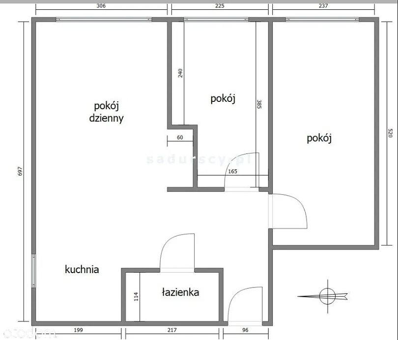 Mieszkanie na sprzedaż Krakow, Dąbie, ALEJA POKOJU  50m2 Foto 1