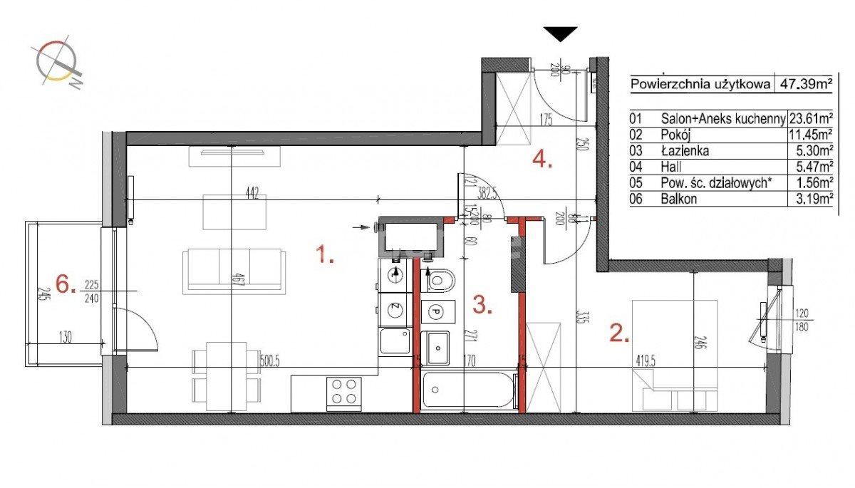 Mieszkanie dwupokojowe na sprzedaż Warszawa, Białołęka Tarchomin  47m2 Foto 5