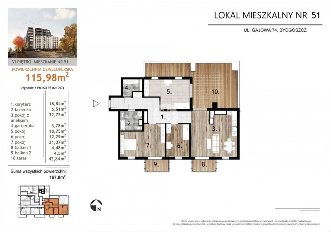 Mieszkanie czteropokojowe  na sprzedaż Bydgoszcz, Bartodzieje, Gajowa  116m2 Foto 3