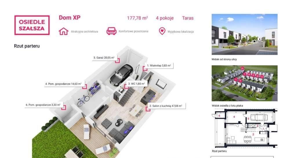 Dom na sprzedaż Gliwice, Szałsza, Ptasia  178m2 Foto 3